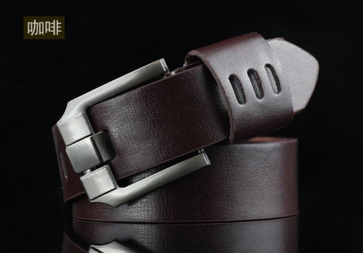High quality men's genuine leather belt belts men luxury strap male belts for men fashion pin buckle coffee one size