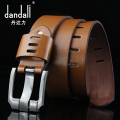 High quality men's genuine leather belt belts men luxury strap male belts for men fashion pin buckle brown one size