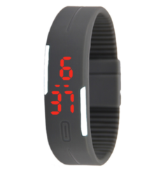 Fashion Silicone Led Sport Watches Men Women Children Electronic LED Digital Watch Running Watch black one size