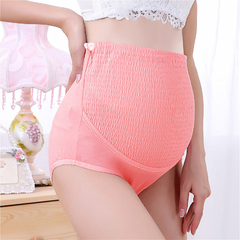 Adjustable Waist Cotton Underwear Pregnant Prop Belly Underwear Red One size