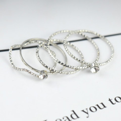 Five-piece fashion ring female jewelry white one size