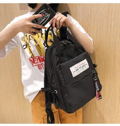 [Product video viewing] Fashion woman backpack Durable leisure backpack travel backpack black inch:14.1*10*4