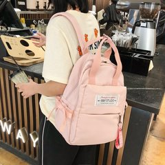 [Product video viewing] Fashion woman backpack Durable leisure backpack travel backpack pink inch:14.1*10*4