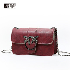 2019 new handbag, fashion trend, versatile shoulder bag wine red one size