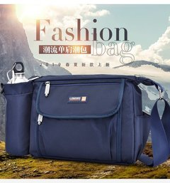 [Product video viewing] Fashion ladies multi-function travel shoulder bag blue one size