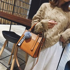 [Product video viewing] Fashion lady noble handbag brown one size