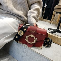 [Product video viewing] Fashion lady popular shoulder bag red one size