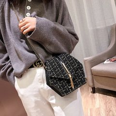 [Product video viewing] Fashion lady fashion style shoulder bag black one size