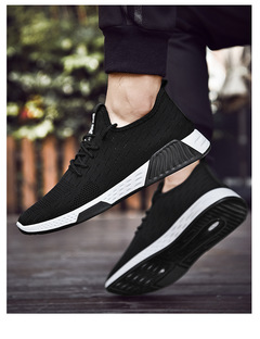 New fashion sports shoes breathable casual men's net shoes black 39