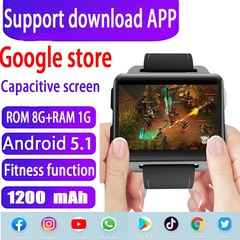 Android5.1 16GB+1G Smart Watch Phone Sports Health black rom16GB+ram1G