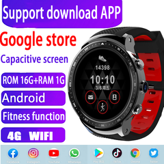 4G WIFI Smart Watch Phone 16GB+1GB Sports Health Black black rom16gb+ram1g