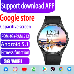 Android 5.1 Smart Watch Phone 4GB+512MB Sports Health Black black 4gb+512mb