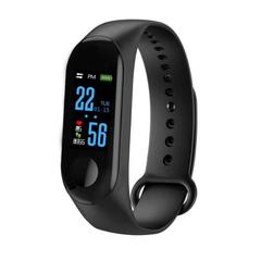 M3 Smart Bracelet Color Screen Blood Pressure Waterproof Fitness Watch Heart Rate Monitor Smart Band black one size