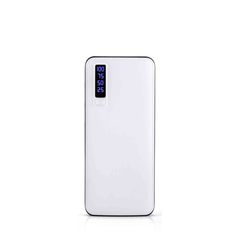 Leather Power Bank 20000mAh Mobile Charger Supply Power Bank Smart Phone Universal Charger white 12000