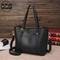 QCG Fashion Women Handbags Accessories Messenger tote bag PU Leather Crossbody Shoulder Bag Black one size