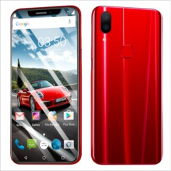 QCG new Phone 6.2inch 4G+16G MTK6592 CPU 8MP+16MP Face&Fingerprint unlocking Dual SIM Smartphone red