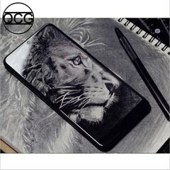 QCG new Phone 6.4inch 8G+128G MTK6797 CPU 26MP+26MP Face&Fingerprint unlocking Dual SIM Smartphone black