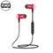 QCG new Sports Wireless Portable Earphone Bass Smart ear-in cachet metal Bluetooth Earphone black