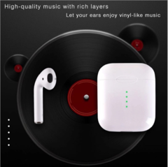 QCG new Charging headset Wireless bluetooth headset stereo True sound quality Portable Earphone white
