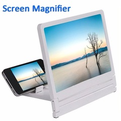 Mobile Phone Screen Magnifier Eyes Protection Display 3D Video Screen  Folding Enlarged Stand Holder white 8.2 inch general
