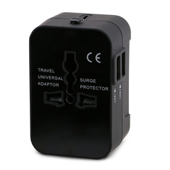 Worldwide Conversion Plug Travel Conversion Socket Multi-function Converter Plug With  USB Charging Black Worldwide general
