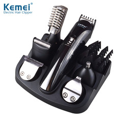 Kemei 6 in 1 Rechargeable Hair Trimmer Titanium Hair Clipper Electric Shaver Beard Trimmer 600 one color one size