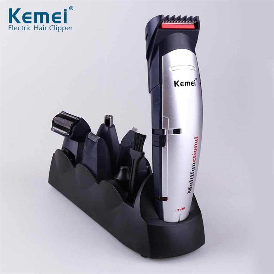 1x Machine;1x Limit comb;1x Nose trimmer head;1x hair cutter;1x Side burns cutter;1x Shaver head;1x Hair trimmer head;1x Stand;1x Manual;1x Brush;1x charger