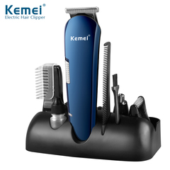 Kemei KM 550 5 in 1 Rechargeable Hair Trimmer Titanium Hair Clipper Electric Shaver Beard Trimmer one color one size