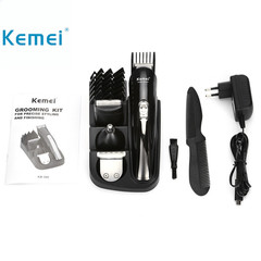 Kemei KM 500 8 in 1 Hair Trimmer Rechargeable Hair Clipper Electric Shaver Beard Trimmer men styling one color one size