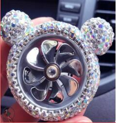 Car decoration set with diamond outlet decoration air conditioner perfume clip black little