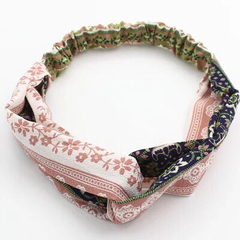 Bohemian style fresh pattern personality hair band female hair band hair accessories pink