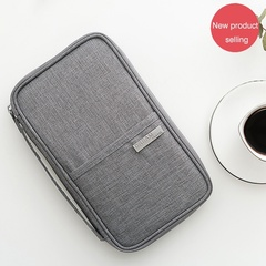 New Passport Holder Organizer Wallet Multifunctional Travel Wallet Portable Business Card Holder black Small
