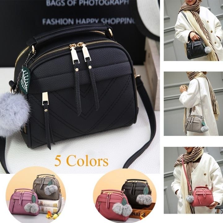 Women Sling Shoulder Bag PU Leather Tote Handbag Crossbody Bag Clutch Bag black one size