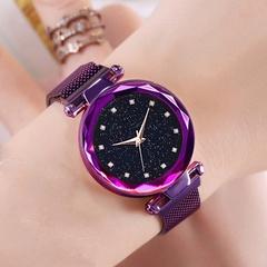 Luxury Starry Sky Women Watches Elegant Rhinestones Quartz Ladies Watch Watchband Wristwatch Black one size