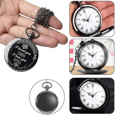 Vintage Retro Pocket Watch Pendant Chain Necklace for Men To My Husband Anniversary Gift white one size