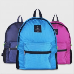 Outdoor Bags Travel Folding Portable Backpack Lightweight Durable  Large Capacity Backpack Pink one size