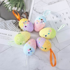 6Pcs Simulation Foam Eggs Party Easter Tree Decorative Pendant  Kids Toy DIY Creative Easter Egg multicolor one size