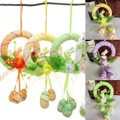 1PC Easter Egg Rabbit Vintage Spring Easter Bunny Hanging Tree Decoration green one size