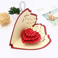 Creative 3D Love In Hands Greeting Card for Easter Gifts Birthday Good Luck Mother's Day Gift Card red one size