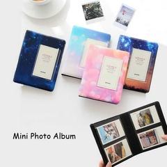 64 Pockets Photo Album Polaroid Camera Photo Storage A-pink 3inch (6.8cmx10cm)