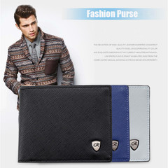 New Wallet Short Men Wallets PU Leather Male Purse Card Holder Wallet black one size