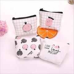 1PC Multi-color Cartoon Design Coin Money Bag Purse Wallet Canvas Handbag for Women Girl Lady Gift random color one size