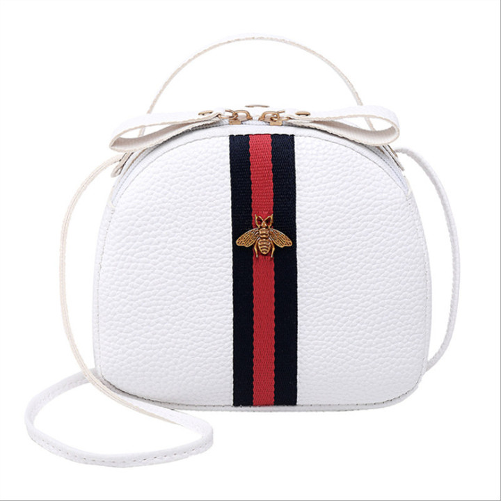 New Women's Bag Lychee Pattern Mini Bag Shoulder Bag Messenger Bag Mobile Phone Bag Crossbody Bag white one size