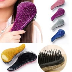 New Fashion Magic Easy Detangling Hair Massage Handle Anti-Static Cute Hair Brush Comb pink 15x7.5cm