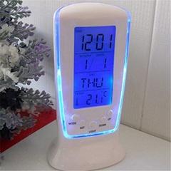 Multi-function Alarm Clock LED Digital Clock Calendar Thermometer Display Clock