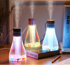 500ml Air Humidifier LED Light Wishing Bottle USB Office Home Moist Diffuser Car Humidifier blue one size