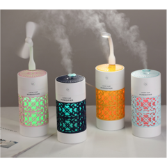 3 in 1 Creative Cup Shape 250ML Ultrasonic Home Aroma Humidifier Led Air Diffuser Purifier Atomizer Blue one size