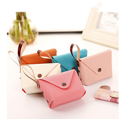 7 Colors Cute Candy Coin Purse Coin Bag Key Bag Creative Leather Hand Bag pink one size