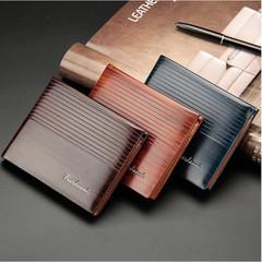 Business Men Wallets PU Leather Clutch Wallet Purse Hand Bag Top Zipper Large Wallet Card Holders blue one size