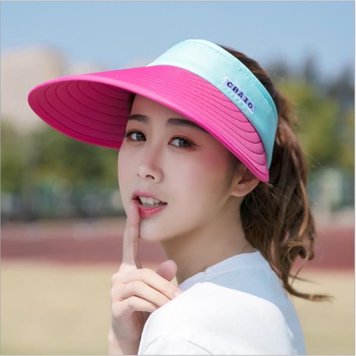 7fe05e141 Women Adjustable Visor Sun Plain Hat Sports Cap for Golf Tennis Beach red